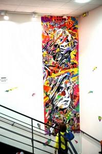 œuvre réalisée pour le centre Goscinny, Paris 13