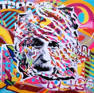ALBERT IS SO POP by Jo Di Bona 2014 120x120 technique mixte sur toile