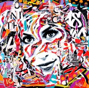 AMY IS SO POP! by Jo Di Bona 2015 100x100 technique mixte sur toile