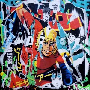 COBRA 1 by Jo Di Bona 2014 40x40 technique mixte sur toile