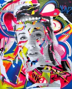 DAZE & CONFUSED by Jo Di Bona 2013 130x162 technique mixte sur toile