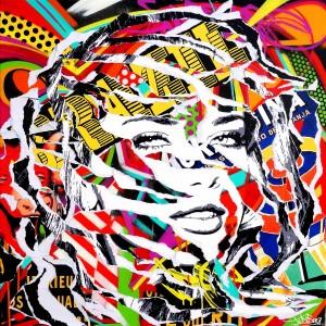 DO BRAZIL by Jo Di Bona 2015 80x80 technique mixte sur toile