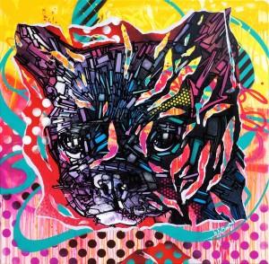 DOGGYSTYLE by Jo Di Bona 2014 120x120 technique mixte sur toile