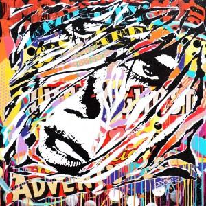 GRAFFITEEN by Jo Di Bona 2015 100x100 technique mixte sur toile