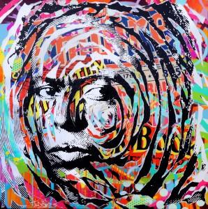 MILES IS SO POP! by Jo Di Bona 2015 100x100 technique mixte sur toile