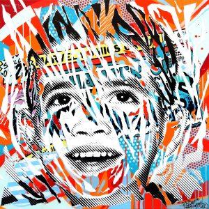 MY SUBURB IS SO POP 3 by Jo Di Bona 2015 120x120 technique mixte sur toile