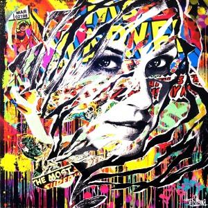 PHOENIX by Jo Di Bona 2015 100x100 technique mixte sur toile