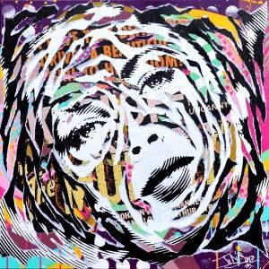 PURPLE LIZ by Jo Di Bona 2015 80x80 technique mixte sur toile