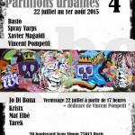 Affiche partitions urbaines juillet aout 2015