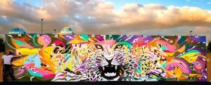 œuvre réalisée à Rock en Seine 2015, photo Alex Gallosi