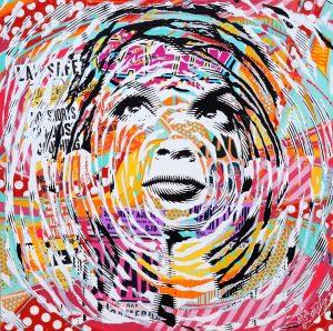 BLUEBERRY NIGHT by Jo Di Bona 2016 150x150 technique mixte sur toile