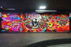 Mur Ecole HEC, Paris, by Jo Di Bona