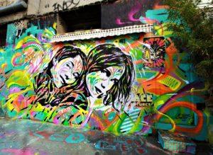 Mur Les FRIGOS, Paris by Jo Di Bona, photo by Philippe Moreau