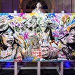 DIPTYQUE WFS by Jo Di Bona 180x180 + 180x180 technique mixte sur toile 2018