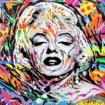 GLAMOROUS CHIC AND POP by Jo Di Bona 2018 100x100 technique mixte sur toile