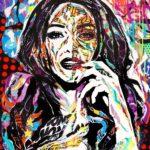 HOMOGENIC by Jo Di Bona 2018 120x140 technique mixte sur toile