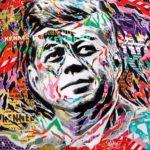 JFK by Jo Di Bona 2018 100x100 technique mixte sur toile