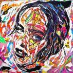 NEVER LET YOU GO by Jo Di Bona 2018 100x100 technique mixte sur bois