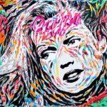 TONI GARRN CARTIER by Jo Di Bona 2018 100x100 technique mixte sur toile