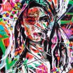 UNDER YOUR SKIN 1 by Jo Di Bona 2018 80 x120 technique mixte sur toile